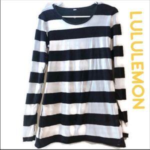Lululemon stripped long sleeve top